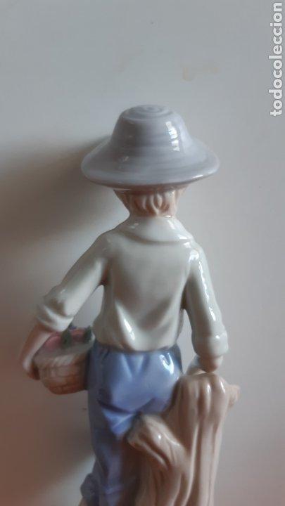 Antigüedades: Figura porcelana Niño Valencia - Valenciana. Posiblemente Algora - Foto 8 - 242817260