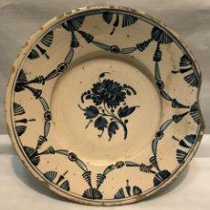 Oggetti Antichi: GRAN PLATO CATALAN CON LA ALGUN DEFECTO RESEÑADO EN FOTO. Lote 242831610