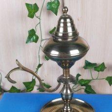 Antigüedades: LAMPARA PALMATORIA BRONCE. Lote 242838710