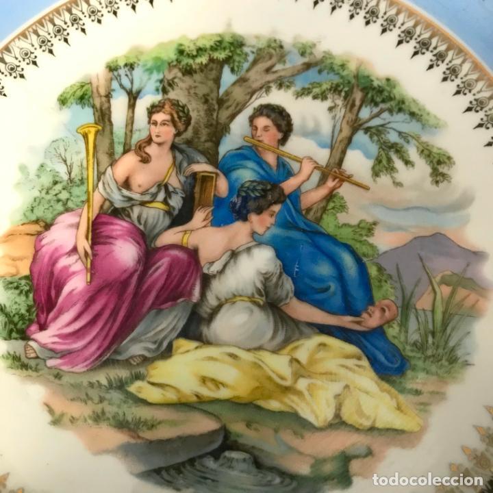 Antigüedades: Plato porcelana escena galante / pastoril. 20 cm - Foto 2 - 242842355