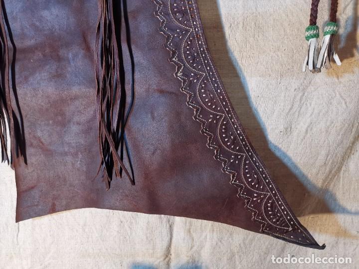 Antigüedades: ANTIGUOS ZAHONES ANDALUCES CABALLERIA GANADERO JINETE CUERO BECERRO -ANDALUCIA - Foto 6 - 242881715