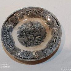 Antigüedades: PLATO DE CARTAGENA CAZA DEL CIERVO SIGLO XIX. Lote 242905530