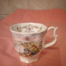 Antiquités: PRECIOSA TAZA DE PORCELANA FINE BONE CHINA ROYAL DOULTON BRAMBLY HEDGE THE WEDDING. ENGLAND. Lote 242954115