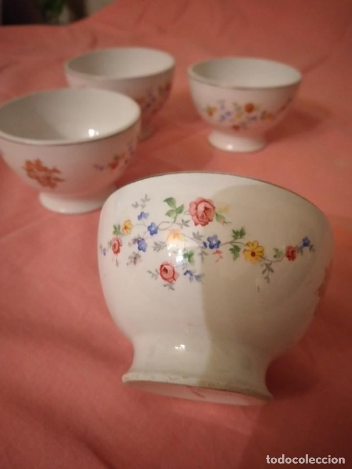 Antigüedades: lote de 4 tazones de porcelana San Claudio Oviedo - Foto 3 - 242981050