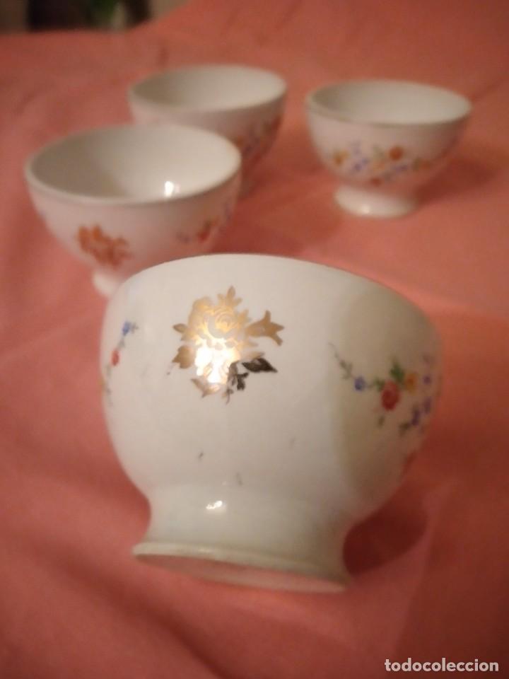 Antigüedades: lote de 4 tazones de porcelana San Claudio Oviedo - Foto 4 - 242981050