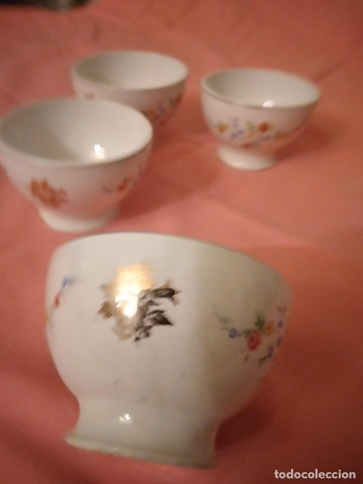 Antigüedades: lote de 4 tazones de porcelana San Claudio Oviedo - Foto 5 - 242981050