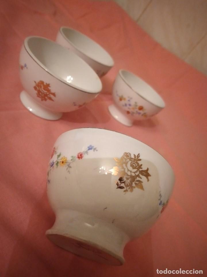 Antigüedades: lote de 4 tazones de porcelana San Claudio Oviedo - Foto 6 - 242981050