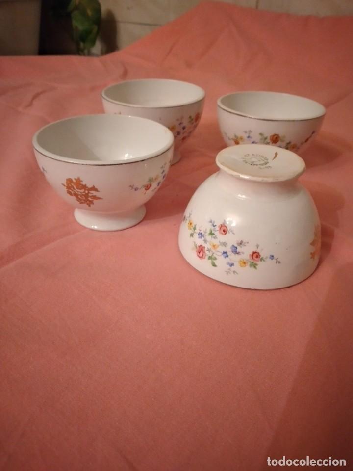 Antigüedades: lote de 4 tazones de porcelana San Claudio Oviedo - Foto 8 - 242981050