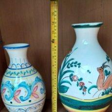 Antigüedades: JARRONES O FLOREROS DE CERÁMICA ANTIGUOS. Lote 243016365