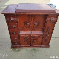 Antigüedades: MUEBLE DE MAQUINA DE COSER. Lote 243018030
