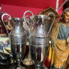 Antiquités: ANTIGUAS JARRITAS PLATEADAS. Lote 275332043
