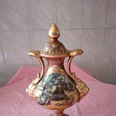 Antigüedades: PRECIOSO JARRÓN DE PORCELANA CHINA ESTILO SATSUMA SELLADO.PINTADO A MANO. Lote 243189405