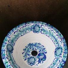 Antigüedades: LAVABO DE CERÁMICA DE FAJALAUZA(GRANADA). BLAS. MONACHIL. Lote 243197470