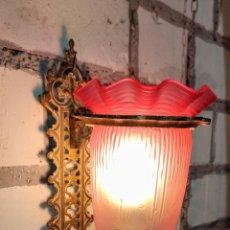 Antigüedades: INTERESANTE APLIQUE.LUZ, LAMPARA, MODERNISTA LINTERNA NEOGOTICA. Lote 243223245