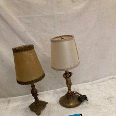 Antiquités: LOTE DE LAMPARITAS BRONCE,MESITA DE NOCHE!. Lote 243223960