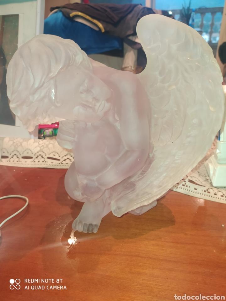 Antigüedades: Gran Ángel de cristal tallado . 22*22*12 - Foto 2 - 243224675