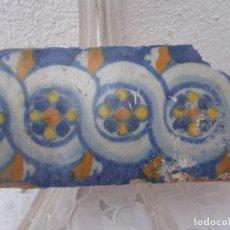 Antigüedades: AZULEJO CENEFA SIGLO XVII. Lote 243284100