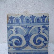 Antigüedades: AZULEJO SIGLO XVIII TRIANA. Lote 243286065