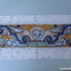 Antigüedades: COMPOSICION AZUEJOS TRIANA PINTADOS. Lote 243288440
