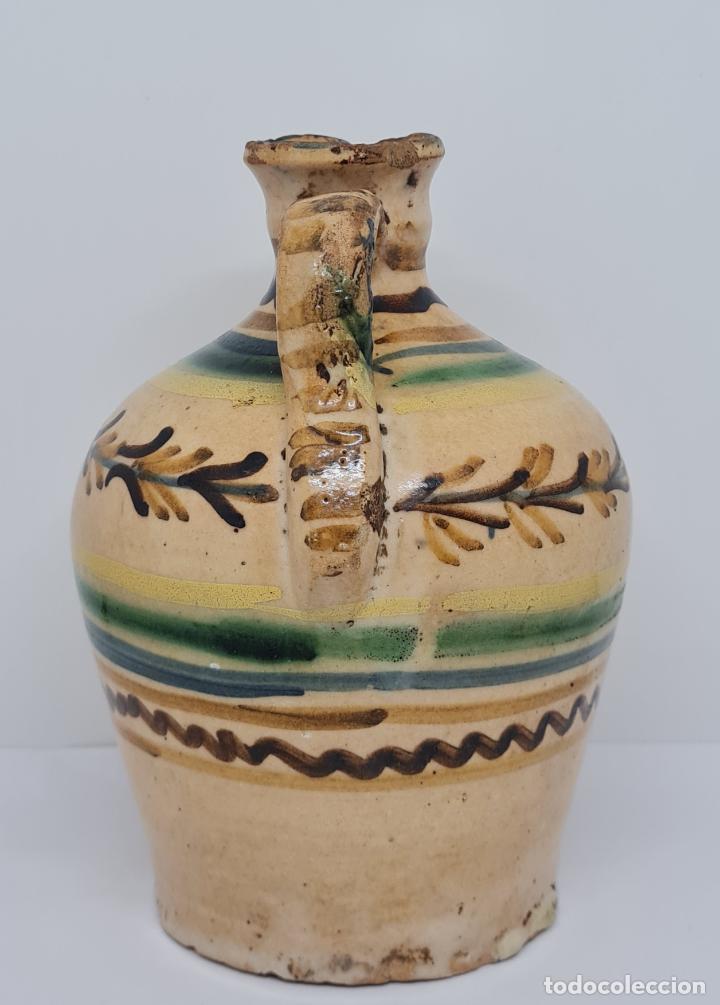 Antigüedades: MAGNIFICA ALCUZA,ACEITERA EN CERAMICA DE PUENTE DEL ARZOBISPO,(TOLEDO),S. XIX - Foto 4 - 243298555