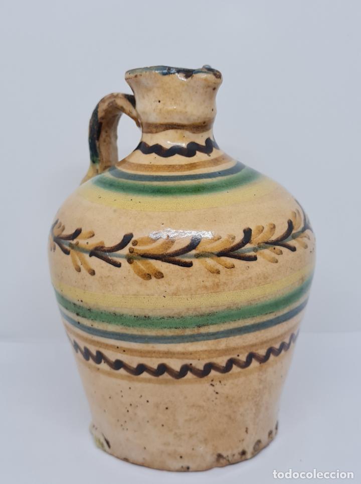 Antigüedades: MAGNIFICA ALCUZA,ACEITERA EN CERAMICA DE PUENTE DEL ARZOBISPO,(TOLEDO),S. XIX - Foto 7 - 243298555