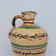 Antigüedades: MAGNIFICA ALCUZA,ACEITERA EN CERAMICA DE PUENTE DEL ARZOBISPO,(TOLEDO),S. XIX. Lote 243298555