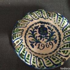Antigüedades: PLATILLO CENICERO CERÁMICA GRANADINA FALAUZA 1969. Lote 243305515