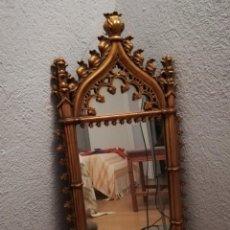 Antigüedades: INUSUAL Y ANTIGUO ESPEJO BARROCO 90X42CM. Lote 243325750