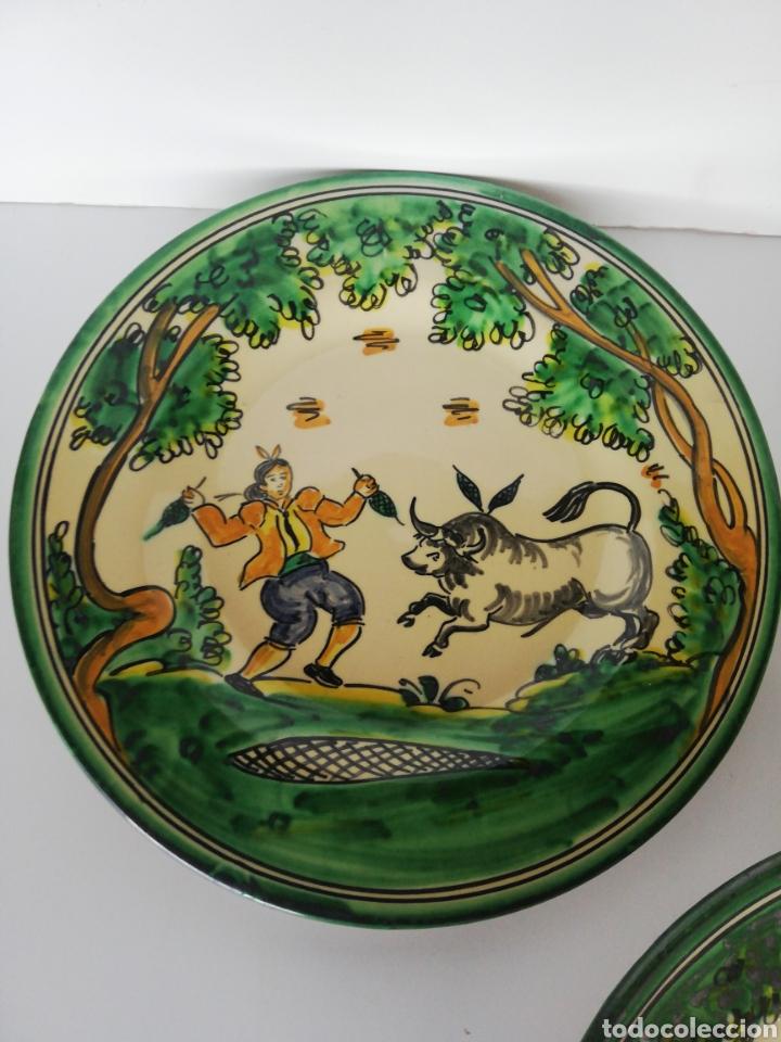 Antigüedades: 3 platos ceramica puente del arzobispo - Foto 2 - 243326835