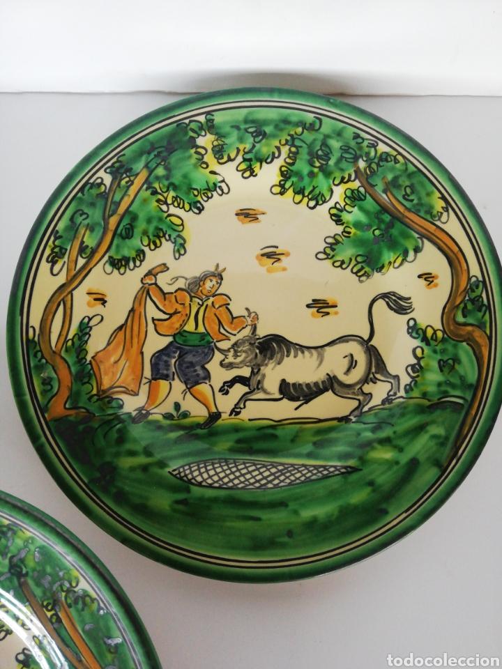 Antigüedades: 3 platos ceramica puente del arzobispo - Foto 3 - 243326835