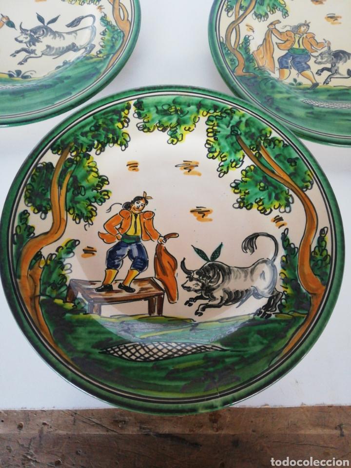 Antigüedades: 3 platos ceramica puente del arzobispo - Foto 4 - 243326835