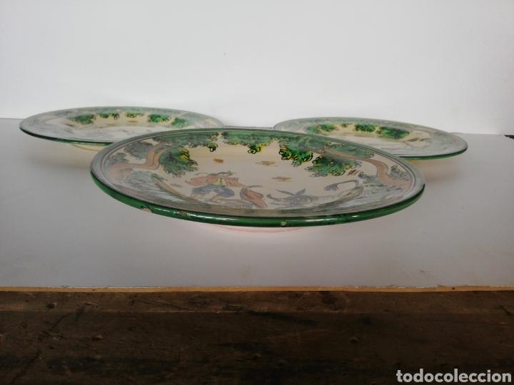 Antigüedades: 3 platos ceramica puente del arzobispo - Foto 5 - 243326835