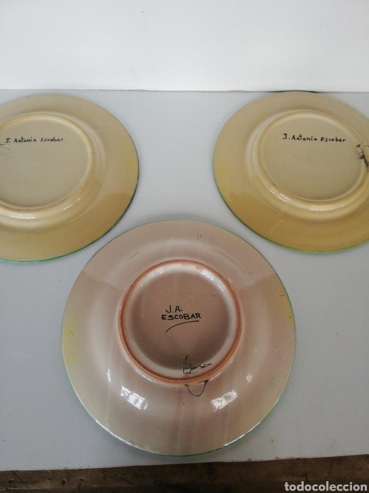 Antigüedades: 3 platos ceramica puente del arzobispo - Foto 6 - 243326835