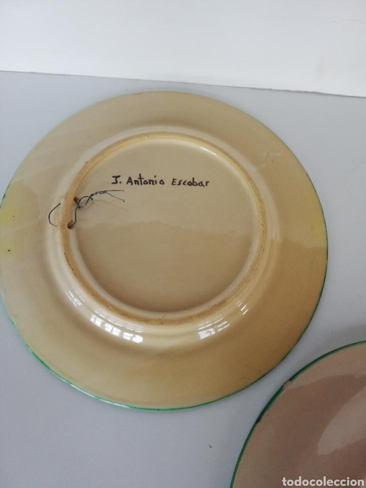Antigüedades: 3 platos ceramica puente del arzobispo - Foto 7 - 243326835