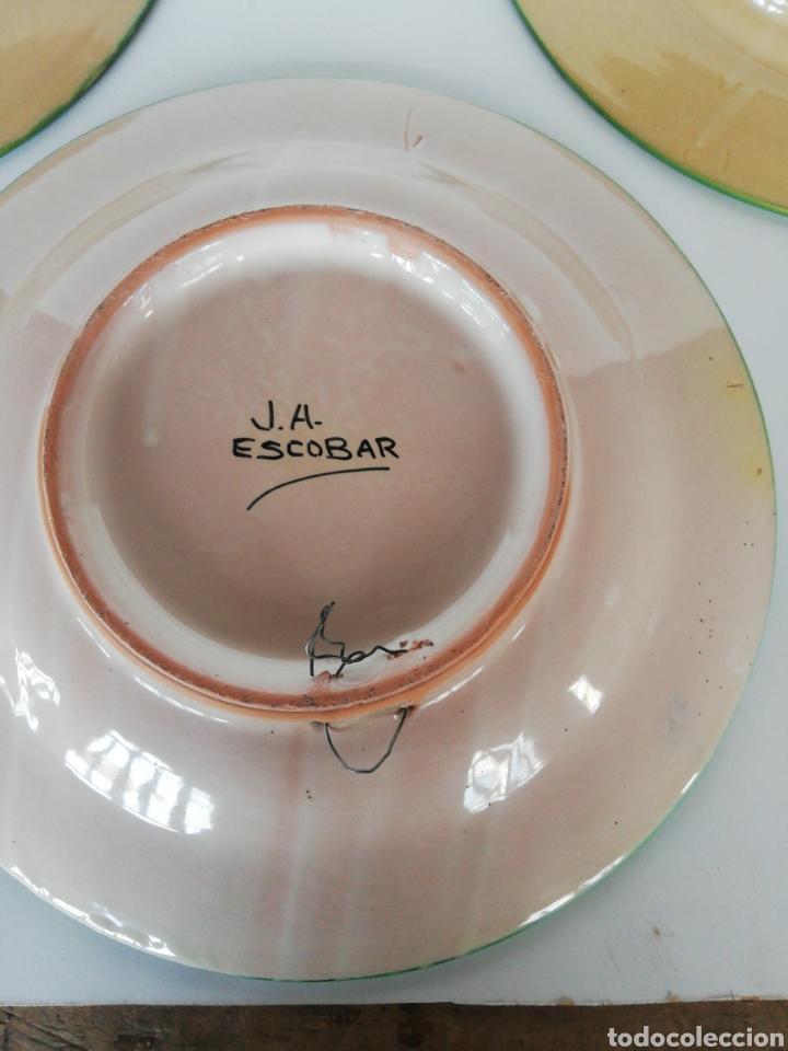Antigüedades: 3 platos ceramica puente del arzobispo - Foto 8 - 243326835