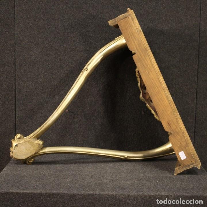 Antigüedades: Pequeña consola francesa lacada y dorada - Foto 4 - 243331645