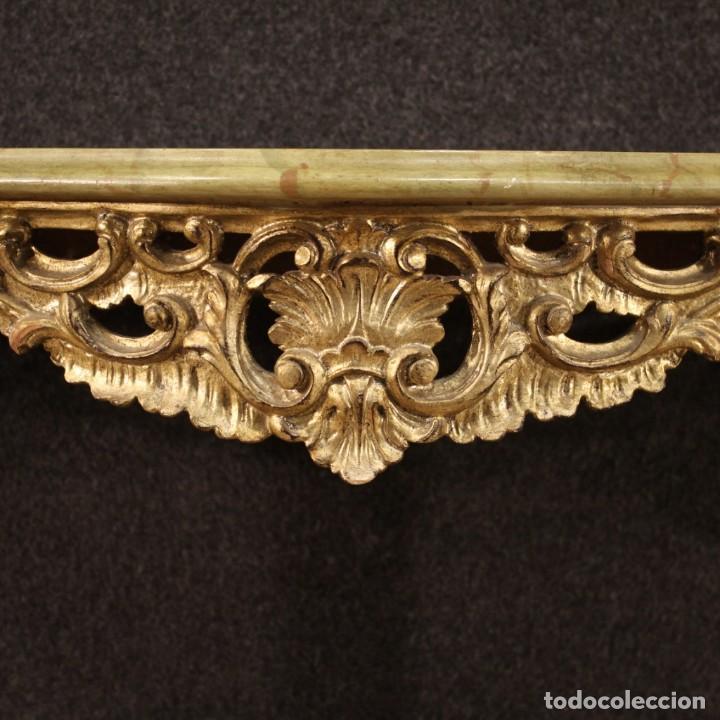 Antigüedades: Pequeña consola francesa lacada y dorada - Foto 8 - 243331645