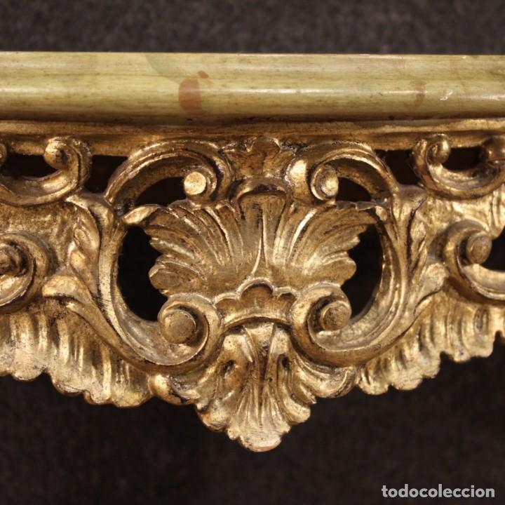 Antigüedades: Pequeña consola francesa lacada y dorada - Foto 12 - 243331645