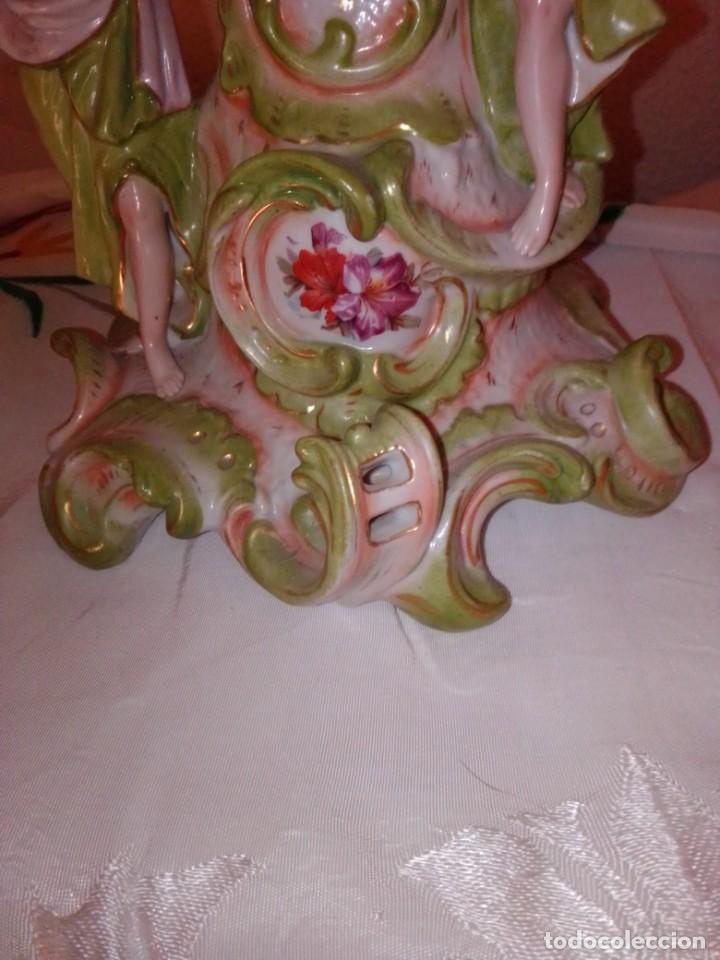 Antigüedades: Antiguo gran centro de porcelana modernista, finales del siglo XIX. - Foto 8 - 243348605