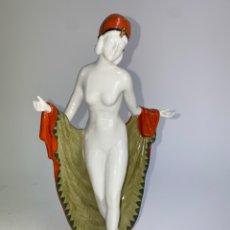 Antiguidades: FIGURA BAILARINA DE PORCELANA ALEMANA GALLUBA & HOFMANN. ART DECO. AÑOS 30.. Lote 243385710