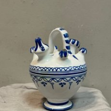 Antigüedades: ANTIGUO BOTIJO DE CERÁMICA TALAVERA PEQUEÑO. Lote 243397415