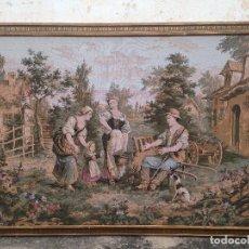 Antigüedades: IMPRESIONANTE TAPIZ FRANCÉS DEL SIGLO XIX. Lote 243402340