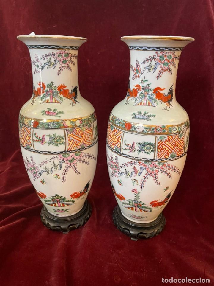 JARRONES MACAU (Antigüedades - Porcelanas y Cerámicas - China)
