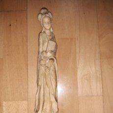 Antigüedades: ANTIGUA FIGURA DE GEISHA REALIZADA EN ALABASTRINA. VER DESCRIPCION.. Lote 243466450