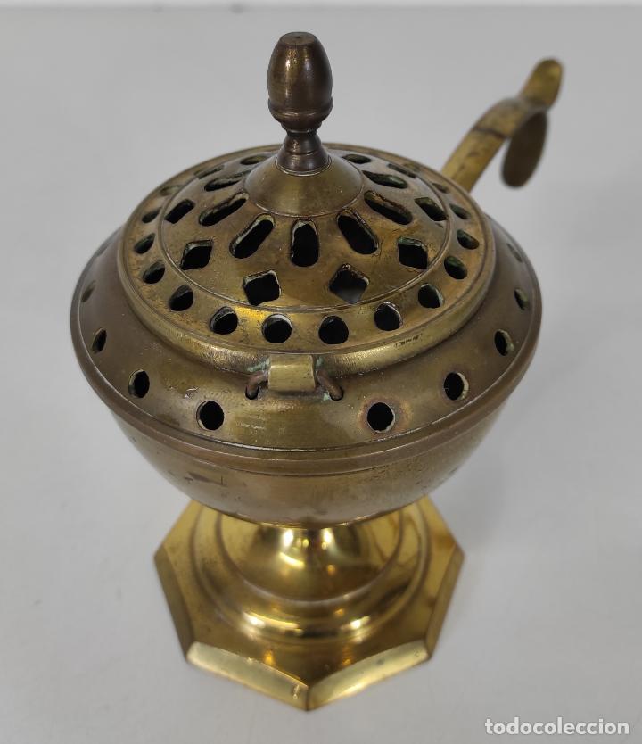 Antigüedades: Incensario de Mano - Quemador en Bronce - Principios S. XX - Foto 2 - 243539430