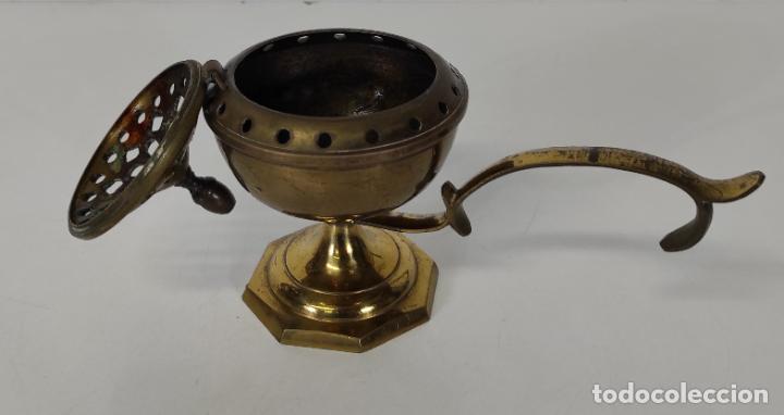 Antigüedades: Incensario de Mano - Quemador en Bronce - Principios S. XX - Foto 6 - 243539430
