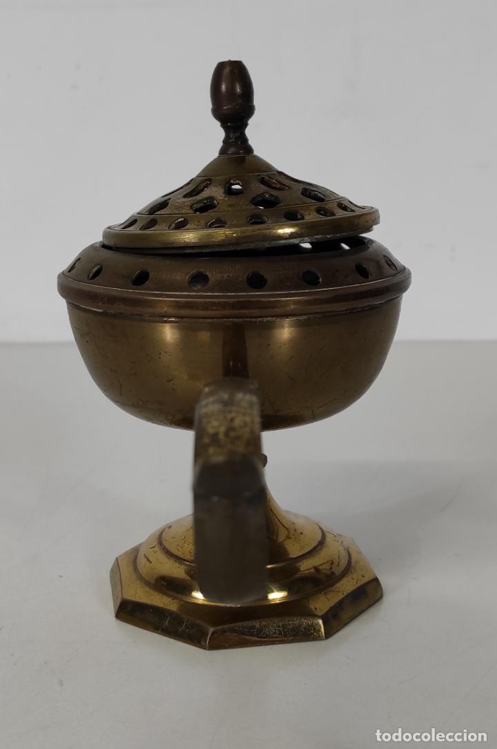 Antigüedades: Incensario de Mano - Quemador en Bronce - Principios S. XX - Foto 7 - 243539430