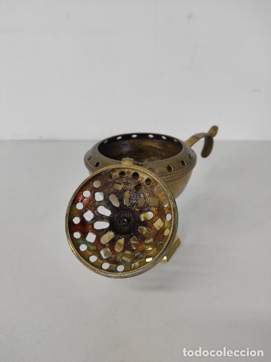 Antigüedades: Incensario de Mano - Quemador en Bronce - Principios S. XX - Foto 9 - 243539430