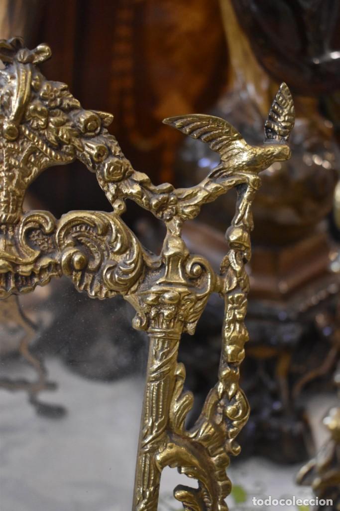 Antigüedades: LOTE DE 3 PORTAFOTOS DE BRONCE - Foto 9 - 243554745