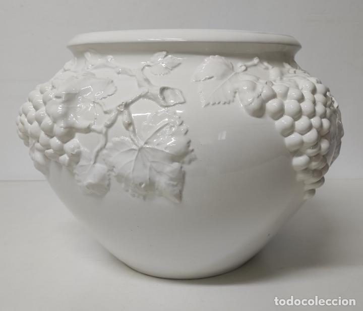 Antigüedades: Bonita Gran Maceta - Jardinera en Cerámica Decorada - Made in Italy - Vintage - Años 70 - Foto 13 - 243563275